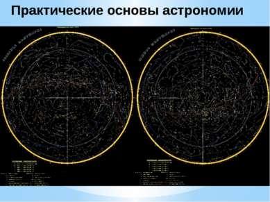 Созвездия Практические основы астрономии