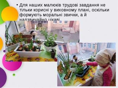 Для наших малюків трудові завдання не тільки корисні у виховному плані, оскіл...