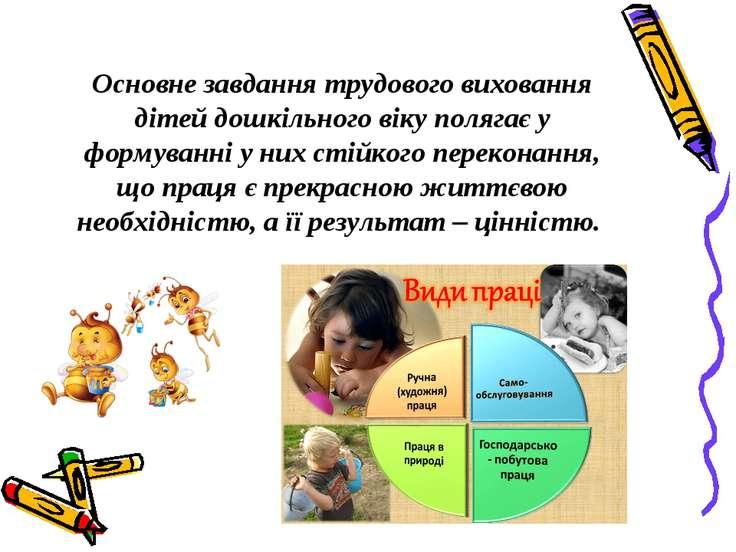 Основне завдання трудового виховання дітей дошкільного віку полягає у формува...