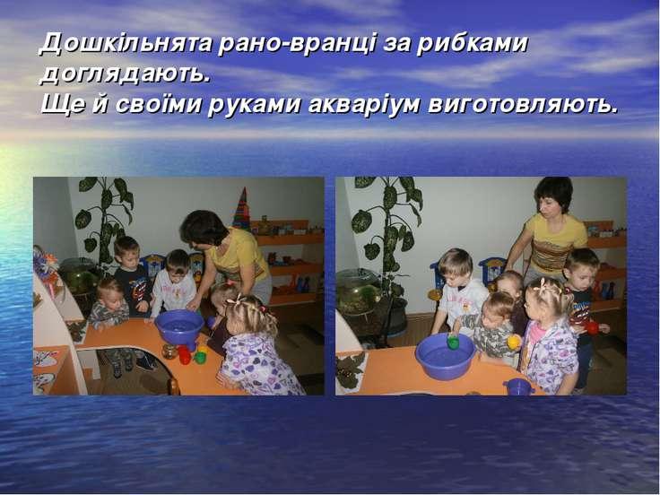 Дошкільнята рано-вранці за рибками доглядають. Ще й своїми руками акваріум ви...
