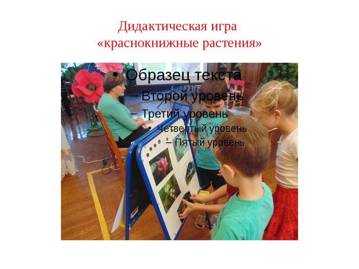 Дидактическая игра «краснокнижные растения»