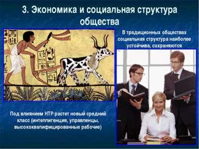 3. Экономика и социальная структура общества В традиционных обществах социаль...