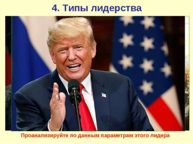 4. Типы лидерства Типология политического лидерства может быть составлена с у...