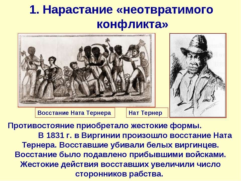 1. Нарастание «неотвратимого конфликта» Противостояние приобретало жестокие ф...
