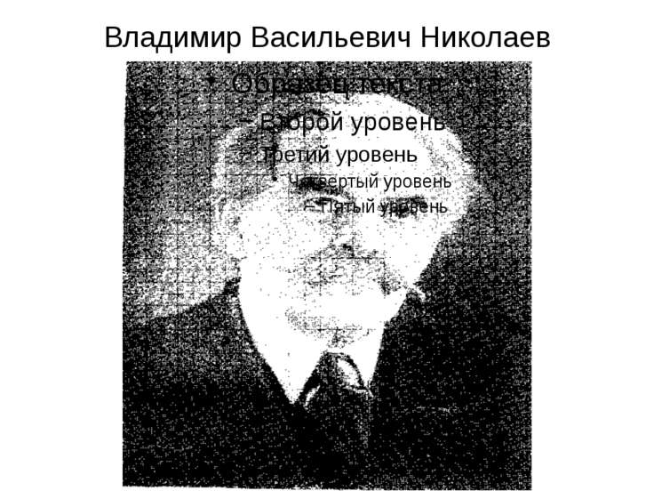 Владимир Васильевич Николаев