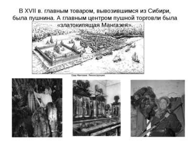 В XVII в. главным товаром, вывозившимся из Сибири, была пушнина. А главным це...