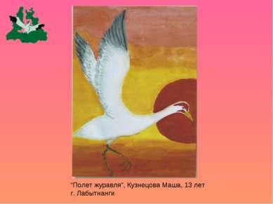 """Полет журавля"", Кузнецова Маша, 13 лет г. Лабытнанги"