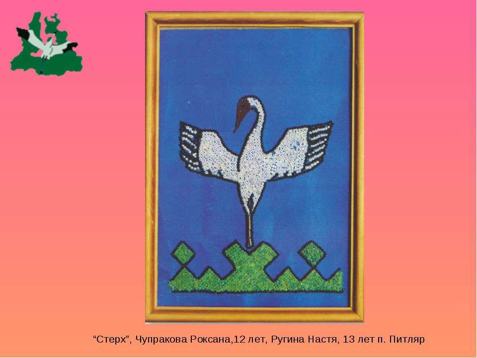 """Стерх"", Чупракова Роксана,12 лет, Ругина Настя, 13 лет п. Питляр"