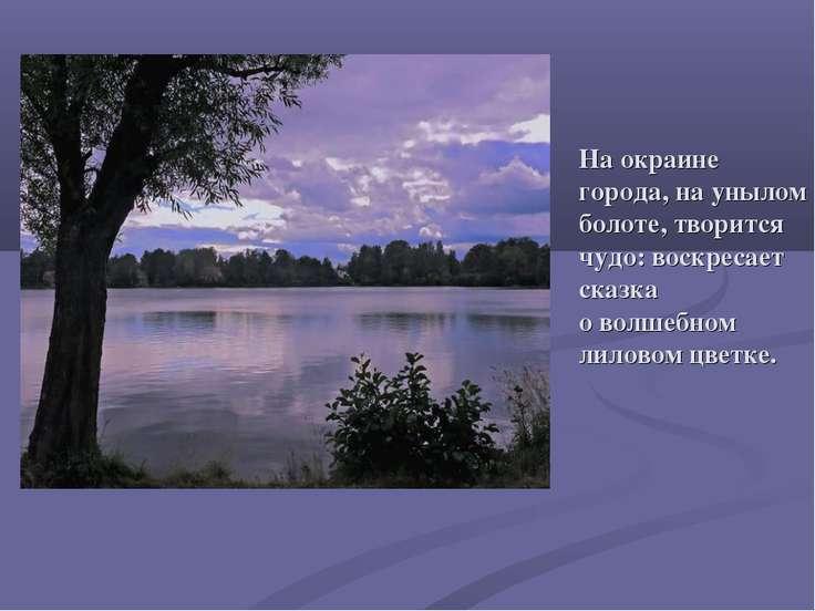 На окраине города, на унылом болоте, творится чудо: воскресает сказка о волше...