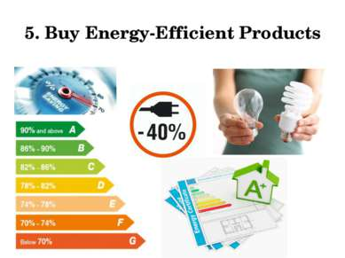 5. Buy Energy-Efficient Products