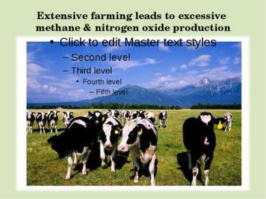 Extensive farming leads to excessive methane & nitrogen oxide production