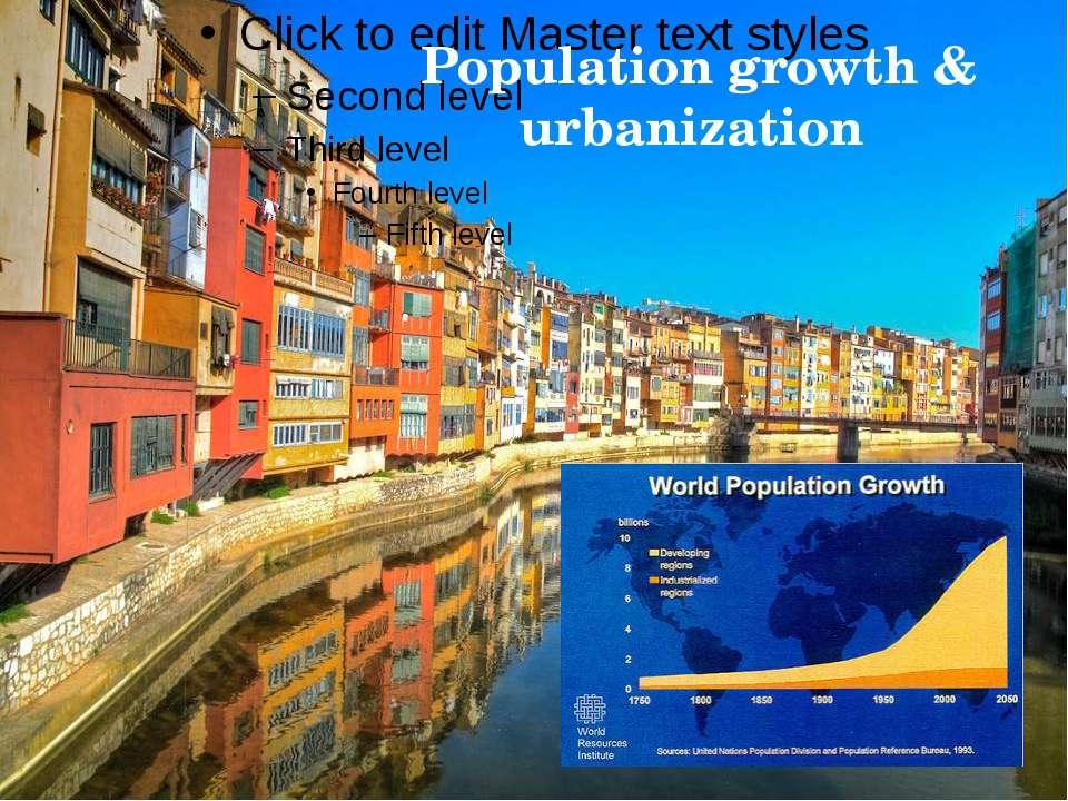 Population growth & urbanization