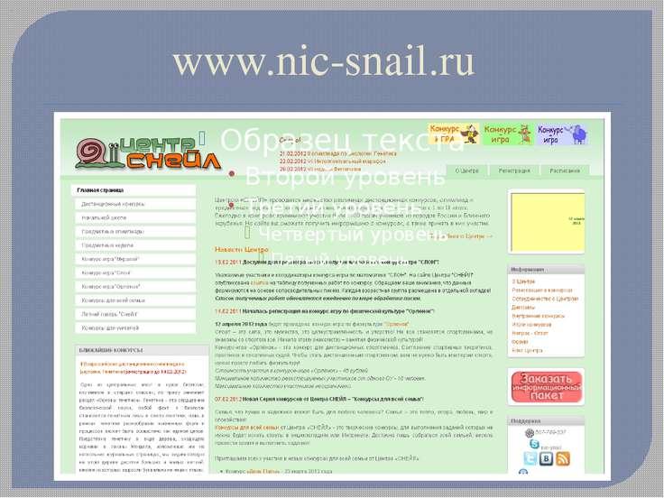 www.nic-snail.ru