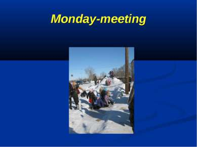 Monday-meeting