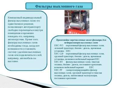 Фильтры выхлопного газа Компактный индивидуальный фильтр выхлопных газов это ...