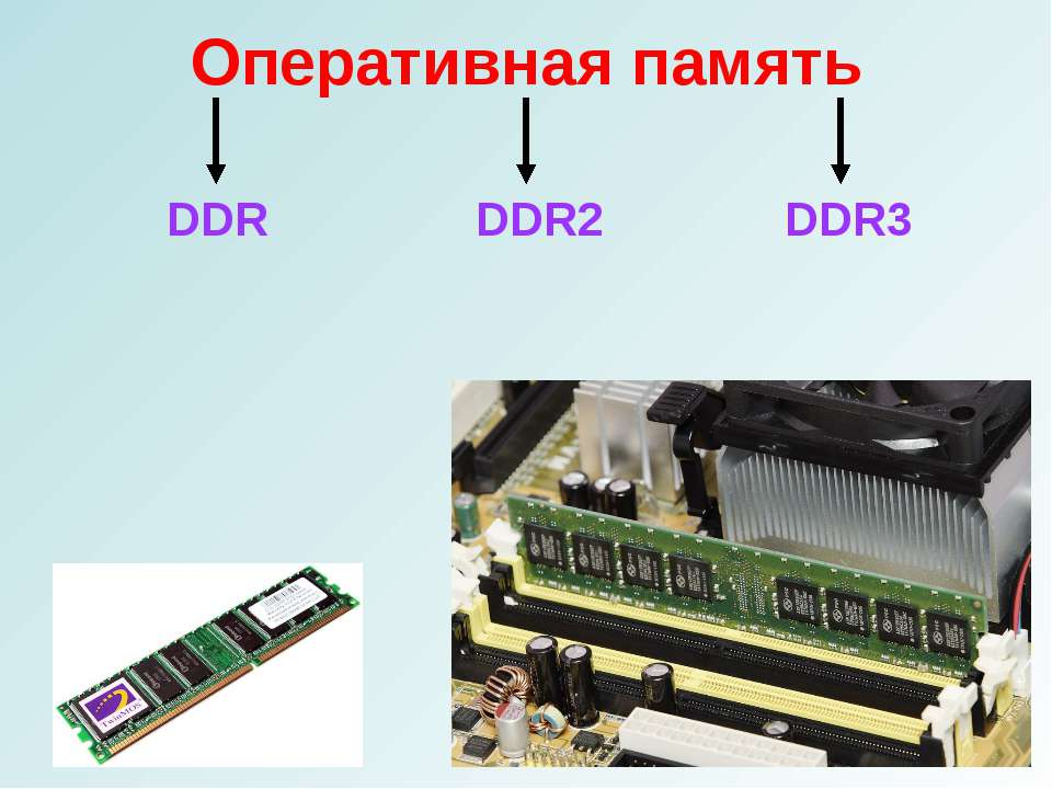 Оперативная память DDR DDR2 DDR3