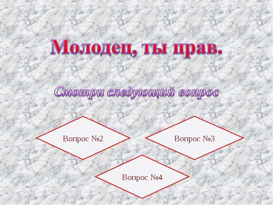 Вопрос №2 Вопрос №3 Вопрос №4