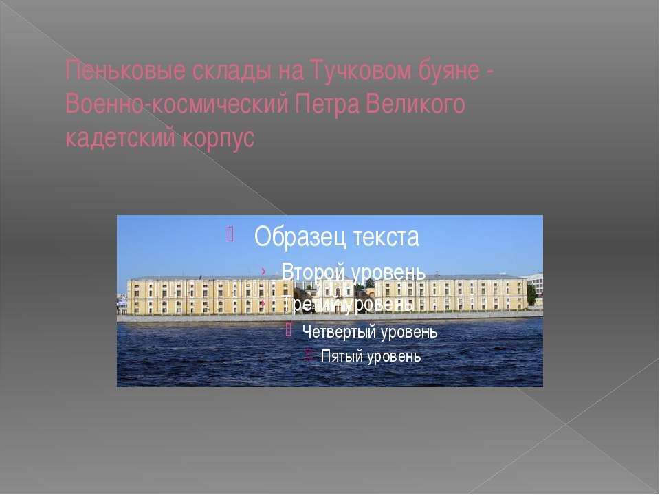 Пеньковые склады на Тучковом буяне - Военно-космический Петра Великого кадет...
