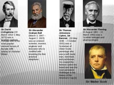 Sir Alexander Graham Bell (March 3, 1847– August 2, 1922) was an eminent sci...