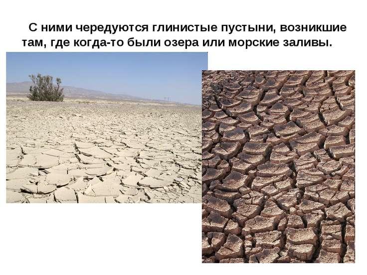 С ними чередуются глинистые пустыни, возникшие там, где когда-то были озера и...