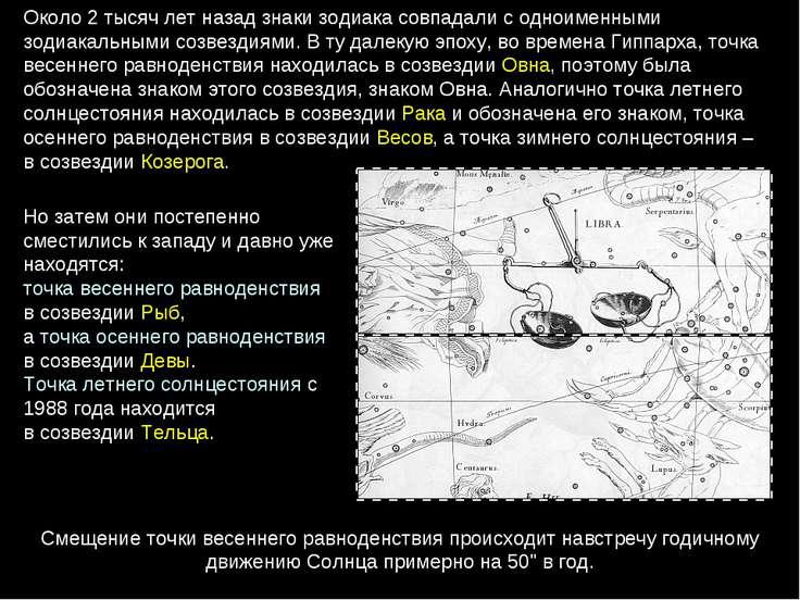 Около 2тысяч лет назад знаки зодиака совпадали с одноименными зодиакальными ...