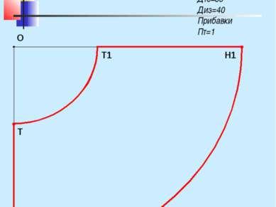Чертеж конической юбки «Полусолнце» Мерки: Ст=36 Сб=45 Дтс=35 Диз=40 Прибавки...