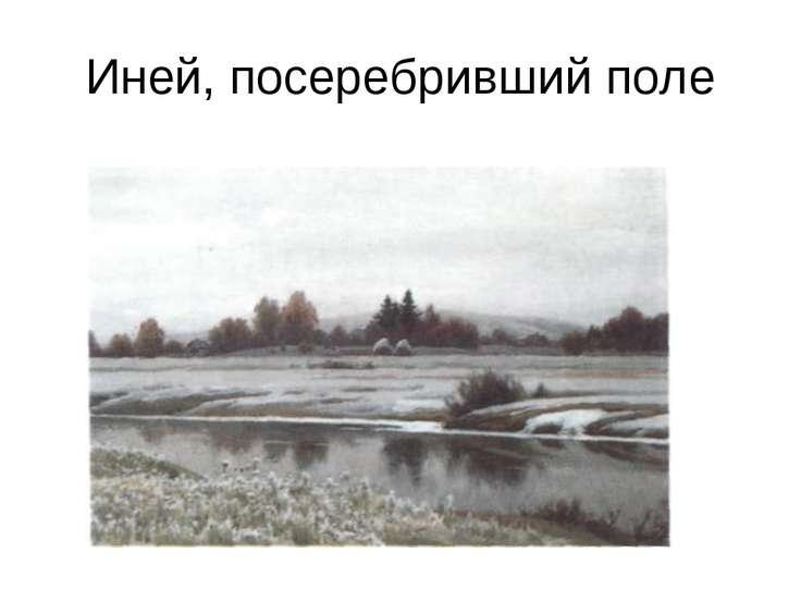 Иней, посеребривший поле