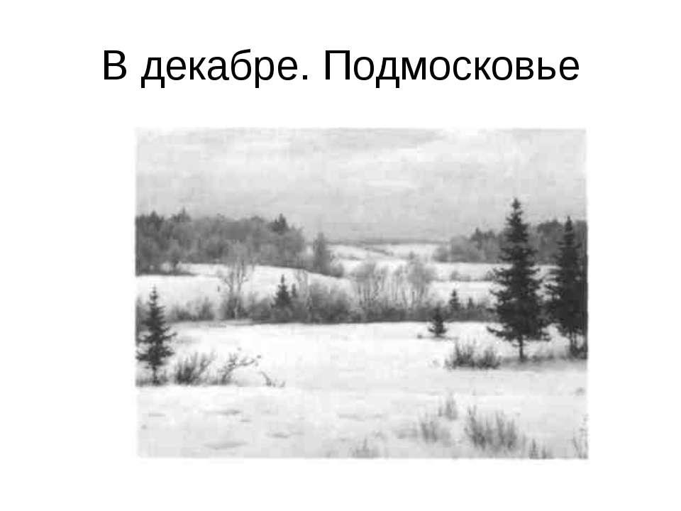 В декабре. Подмосковье