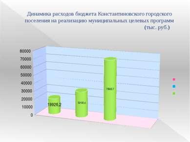 Динамика расходов бюджета Константиновского городского поселения на реализаци...