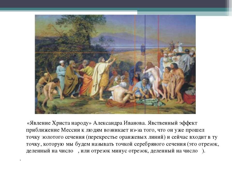 «Явление Христа народу» Александра Иванова. Явственный эффект приближение Мес...