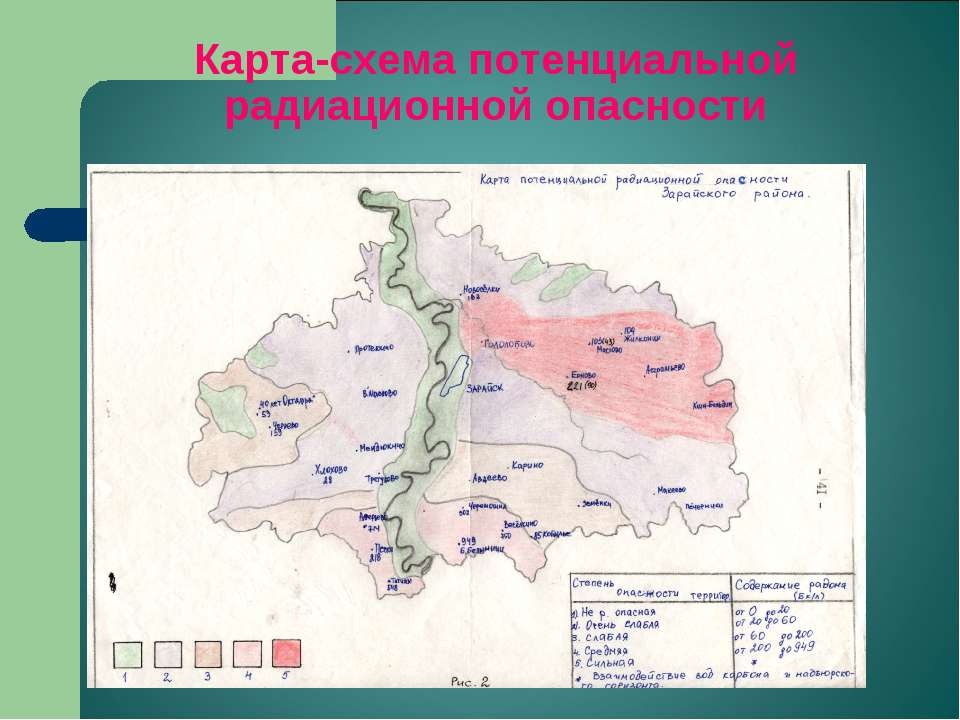 Карта-схема потенциальной радиационной опасности