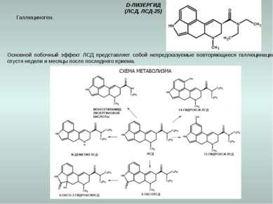 D-ЛИЗЕРГИД (ЛСД, ЛСД-25) Галлюциноген. Основной побочный эффект ЛСД представл...
