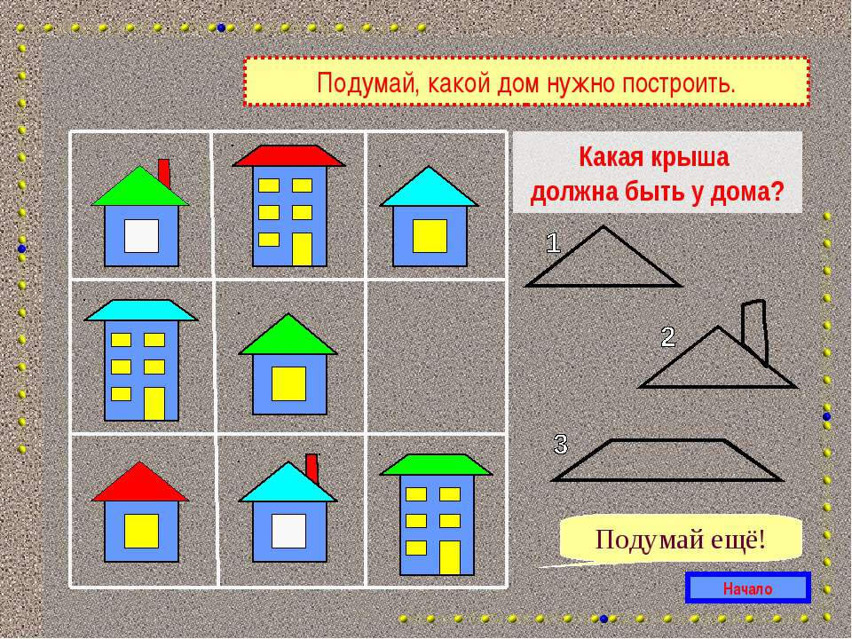 Какая крыша должна быть у дома? Начало Подумай ещё! Подумай, какой дом нужно ...