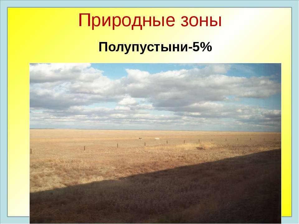 Природные зоны Полупустыни-5%