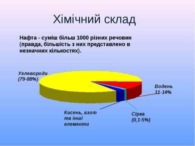 Нафта - суміш більш 1000 різних речовин (правда, більшість з них представлено...