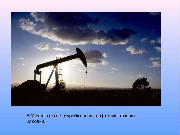 В Україні триває розробка нових нафтових і газових родовищ.