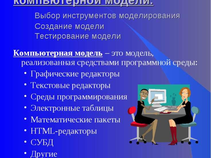 III этап. Разработка компьютерной модели: Выбор инструментов моделирования Со...