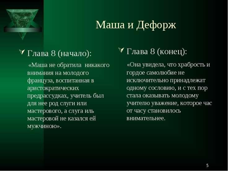 * Маша и Дефорж Глава 8 (начало): «Маша не обратила никакого внимания на моло...