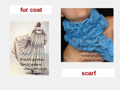 fur coat scarf