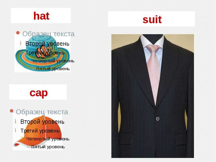 hat cap suit
