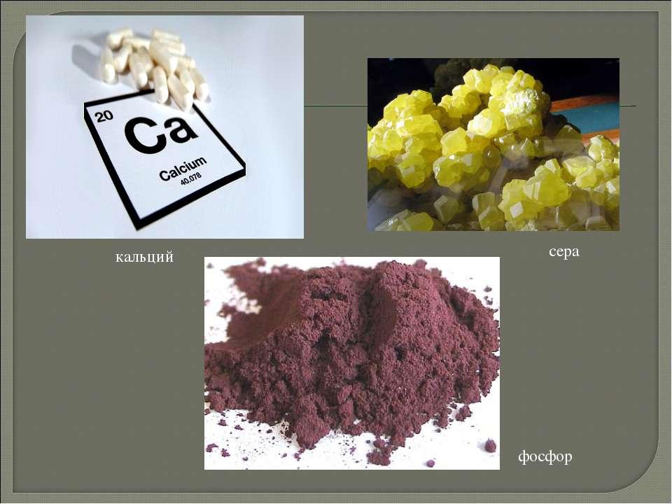 фосфор кальций сера