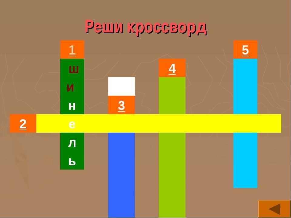 Реши кроссворд 1 5 ш 4  и    н 3   2  е         л    ь  ...