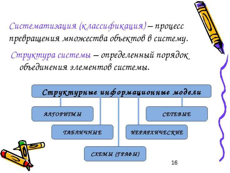 Систематизация (классификация) – процесс превращения множества объектов в сис...