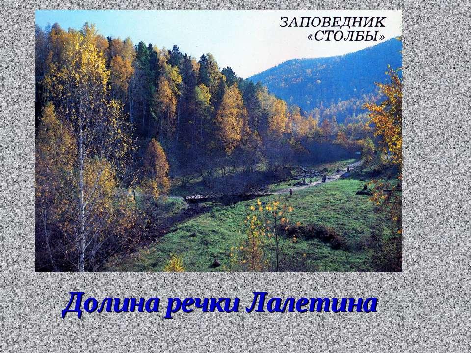Долина речки Лалетина