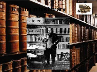 Kipling in his library