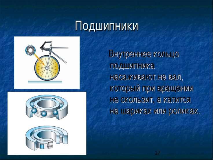 презентация на подшипники