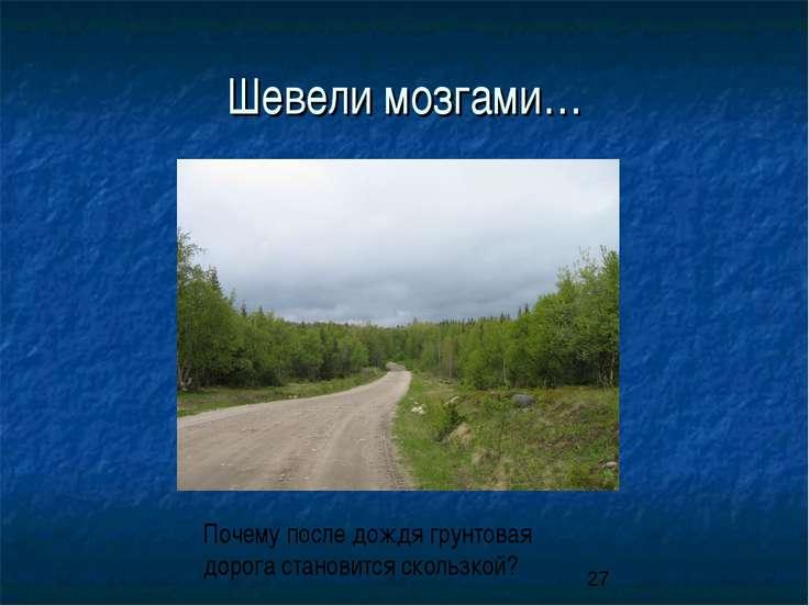 Шевели мозгами… Почему после дождя грунтовая дорога становится скользкой?