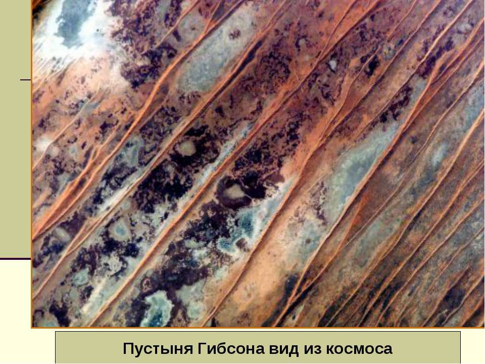 Вид из космоса Барханы Большой Австралийской пустыни Пустыня Гибсона вид из к...