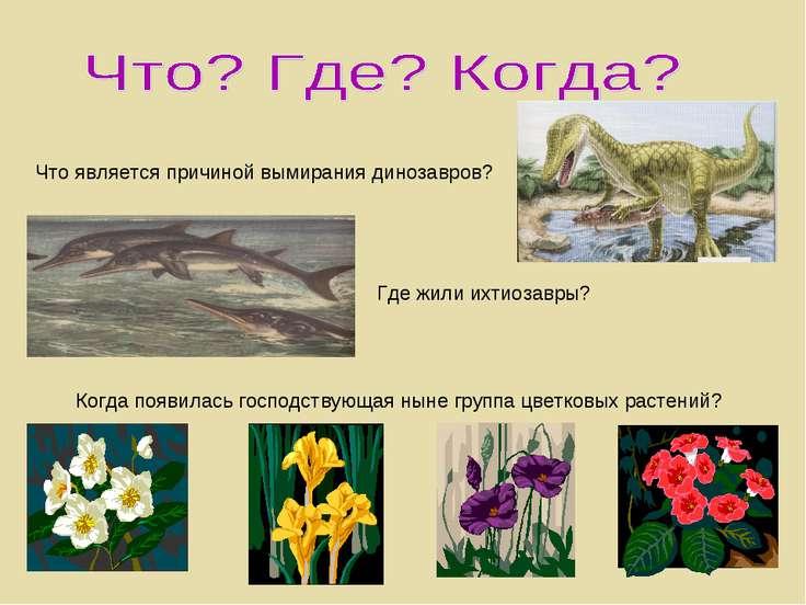 Что является причиной вымирания динозавров? Где жили ихтиозавры? Когда появил...
