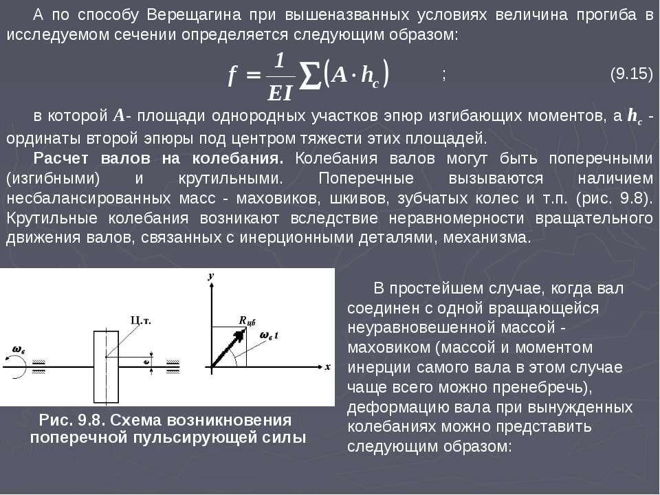 А по способу Верещагина при вышеназванных условиях величина прогиба в исследу...